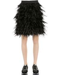 DKNY Tiered Feathered Skirt - Lyst