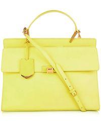Balenciaga Le Dix Classic Cartable Leather Bag yellow - Lyst