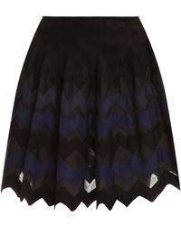 Azzedine Alaïa Zigzag Short Flare Skirt - Lyst