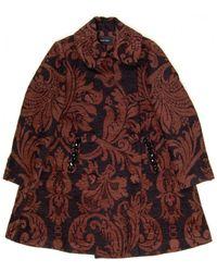 Simone Rocha Chenille Tapestry Coat brown - Lyst