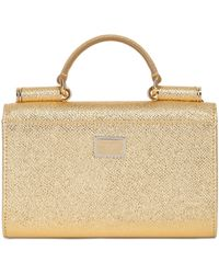 Dolce & Gabbana Studded Laminated Leather Phone Clutch - Lyst