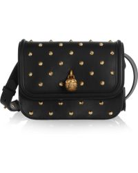 Alexander McQueen - Padlock Studded Leather Shoulder Bag - Lyst