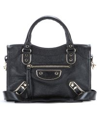 Balenciaga Classic Metallic Edge City Leather Tote - Lyst