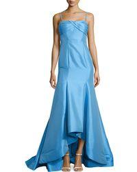 Ml Monique Lhuillier Iridescent Faille Mermaid Gown - Lyst