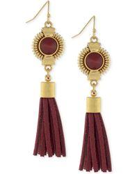 Vince Camuto - Gold-tone Linear Tassel Earrings - Lyst