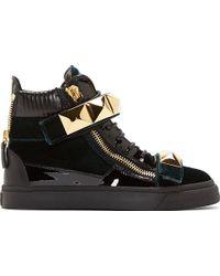 Giuseppe Zanotti Green Velvet London Donna Veronica Sneakers - Lyst