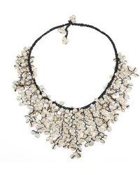 Aeravida - Handmade Trendy White Pearl V-shape Chandelier Necklace - Lyst