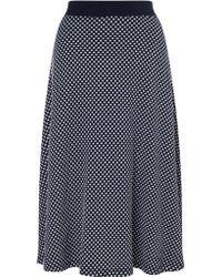 Gerry Weber - Spot Print Jersey Skirt - Lyst