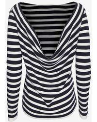 Rag & Bone Linda Cowl Back Striped Pullover - Lyst
