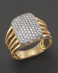 John Hardy Bamboo 18k Yellow Gold Diamond Pave Five Row Ring - Lyst