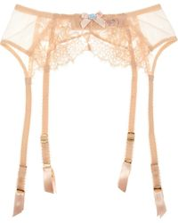 Agent Provocateur Darla Lace and Tulle Suspender Belt - Lyst