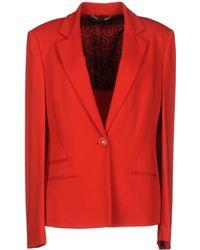 Versace Red Blazer - Lyst