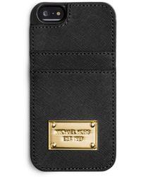 Michael Kors Saffiano Leather Pocket Phone Case - Lyst