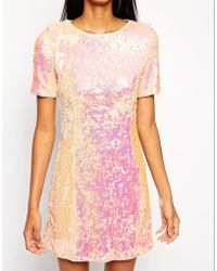 True Decadence Sequin Shift Dress - Lyst