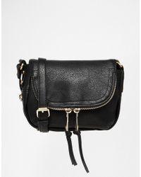 Oasis - Fold Over Zip Detail Cross Body Bag - Lyst