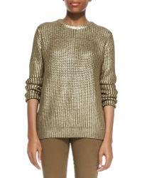 Michael Kors Michael Metallic Knit Sweater - Lyst