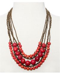 Greenola Style - Red Multistrand Acai Necklace - Lyst
