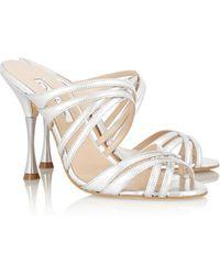 Oscar de la Renta Lilyana Leather Sandals - Lyst