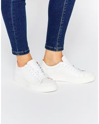SELECTED - Elected Femme Donna White Leather Trainers - Lyst