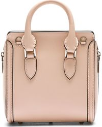 Alexander McQueen Pink Leather Heroine Mini Shoulder Bag - Lyst