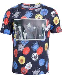 Raf Simons Floral Shoot T-Shirt - Lyst