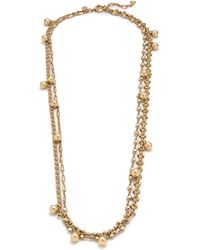 J.Crew Gold Double-chain Necklace - Lyst