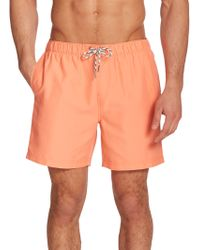 Original Penguin Solid Volley Swim Trunks pink - Lyst