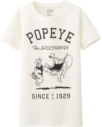 Uniqlo Women Popeye Crew Neck Short Sleeve Tshirt - Lyst