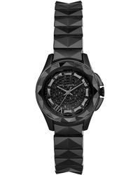 Karl Lagerfeld Karl 7 Black Pyramid Link Bracelet Watch - Lyst