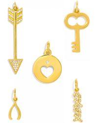 BaubleBar - Key To My Heart Charm Set - Lyst