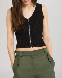 Sandro Top - Samia Knit Crop - Lyst