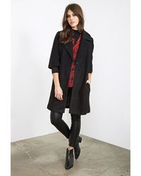 Forever 21 Textured Wool-Blend Overcoat - Lyst