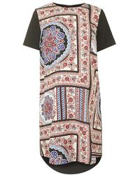 Topshop Maternity Scarf Placement Print Dress multicolor - Lyst