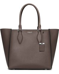 Michael Kors Gracie Large Leather Tote - Lyst