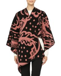 Burberry Prorsum Thistle Motif Blanket Poncho - Lyst