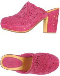 Ash Pink Mules - Lyst