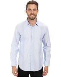 Calvin Klein Liquid Cotton Variegated Stripe Woven Shirt - Lyst