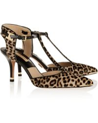 Michael Kors Silvia Leopardprint Calf Hair Tbar Pumps - Lyst
