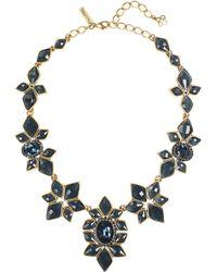 Oscar de la Renta - Navy Resin & Crystal Necklace - Lyst