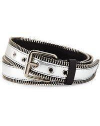 Giuseppe Zanotti Mens Zip-trim Metallic Leather Belt - Lyst