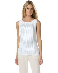 Laundry by Shelli Segal Pleated Front Blouson Top - Lyst