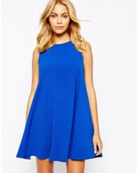 Love Shift Dress With Cut Away Shoulder - Lyst