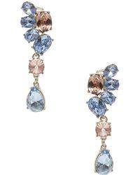 Oscar de la Renta Asymmetrical Swarovski Crystal Drop Earrings - Lyst