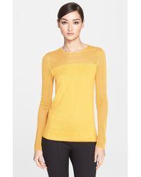 Akris Silk & Cotton Sweater - Lyst