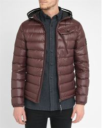 G-Star RAW | Burgundy Revend Hhd Pr Hooded Quilted Down Jacket With Zip Pockets | Lyst