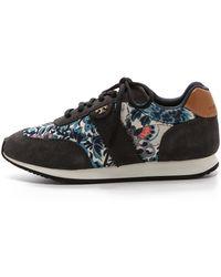 Tory Burch Pettee Printed Sneakers - Nouveau Flowerblackroyal Tan - Lyst