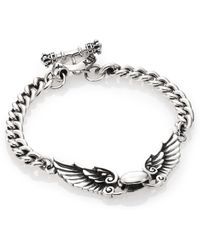 King Baby Studio Curb Link Wingspan Bracelet - Lyst