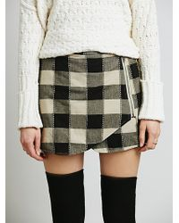 Free People Plaid Wrap Skort - Lyst