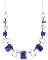 Judith Jack - Sterling Silver And Multi-Crystal Frontal Necklace - Lyst