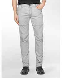 Calvin Klein Jeans Slim Leg Overcast Grey Wash Jeans - Lyst